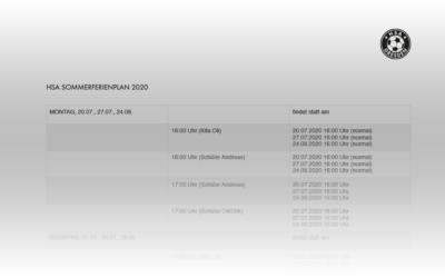 HSA Sommerferienplan 2020